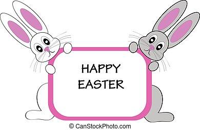 ovos, coelhinhos, páscoa, fundo branco