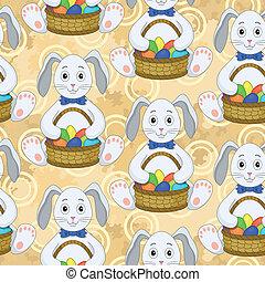 ovos, coelhinhos, Páscoa,  seamless, Padrão