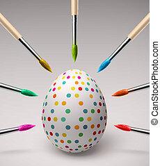 ovos, coloração, páscoa