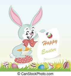 ovos, fundo, páscoa, feliz