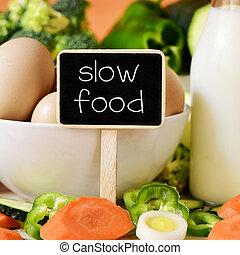 ovos, leite, legumes, e, texto, lento, alimento