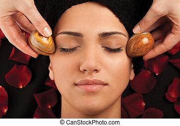 ovos, mármore, massagem