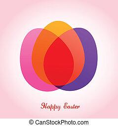 ovos, páscoa, cartão cumprimento