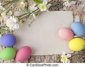 ovos páscoa, e, em branco, nota