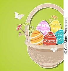 ovos, páscoa, fundo