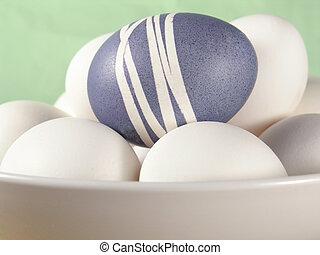 ovos, tigela