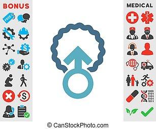 Ovum Penetration Icon - Ovum Penetration vector icon. Style...