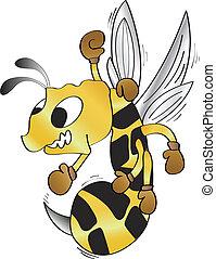 owad, odważny