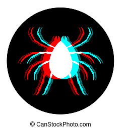 owad, wzrokowy, ikona