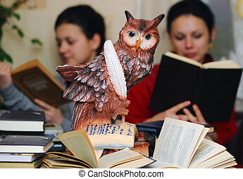 Owl - a symbol of knowledge.