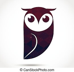 Owl abstract icon
