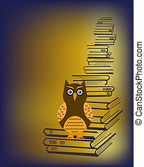 owl and books