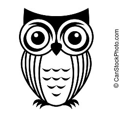 owl bird cute icon