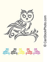 Owl bird decoration. - owl bird tribal art tattoo design,...
