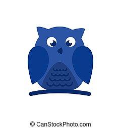 owl bird flat style icon