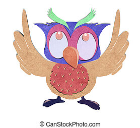 owl bird paper craft stick background - owl bird paper craft...