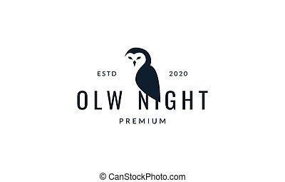owl bird side  modern logo vector illustration design