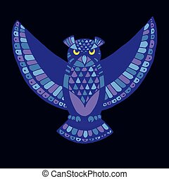 OWL. Bird - symbol of wisdom.