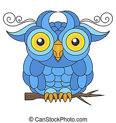 Owl Bird Vector Suitable For Greeting Card, Poster Or T-shirt Printing.