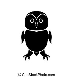 Owl black icon .