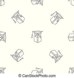 Owl book pattern seamless vector repeat geometric for any ...