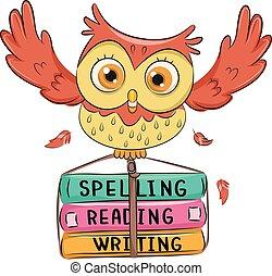 Owl Book Spell Read Write
