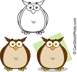 Owl Cartoon Character Collection