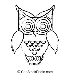 owl cartoon icon