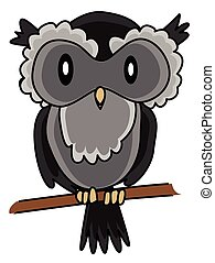 Owl Cartoon Illustration