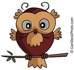 Owl Cartoon Illustration