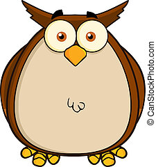 Owl Cartoon Mascot Character