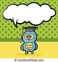 owl color doodle