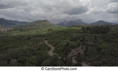 Owl Creek Pass Colorado - Car on a Owl Creek Pass towards...