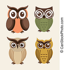 owl design over  white background vector illustration