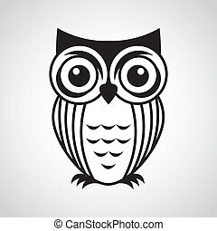 owl design over gray  background vector illustration