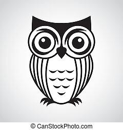 owl design over gray background vector illustration