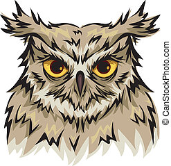 Owl - Illustration Featuring an Owl with Piercing Eyes