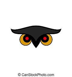 Owl Eye Icon Design Illustration