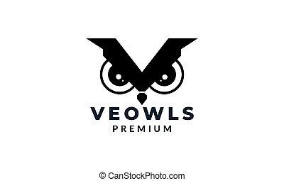 owl eye modern tech logo vector illustration design