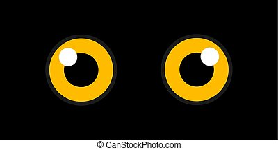 Owl eyes in the dark.