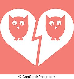 Owl Family Divorce Icon