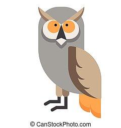 Owl flat illustration