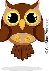 owl flat vector