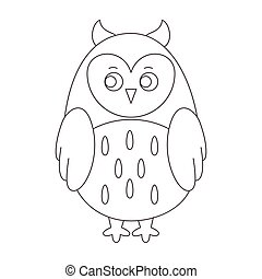 Owl for coloring book