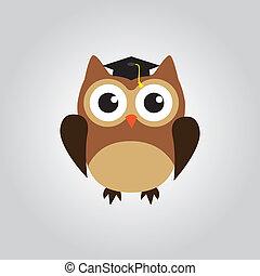 owl graduate - vector owl in a graduate cap