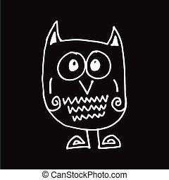 owl Hand draw Illustration design