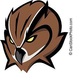 Owl head Illustration design