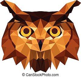 Owl head in Illustrator