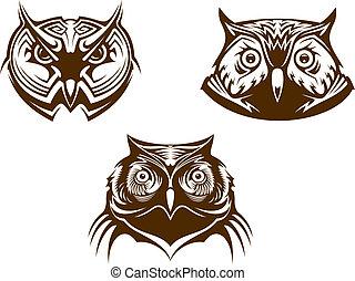 Owl heads mascots