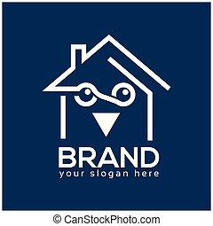 Owl house logo design template